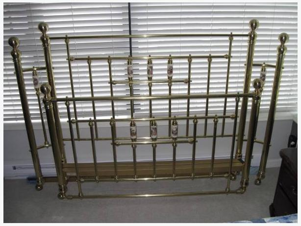 Brass Bed Frame Queen Sized