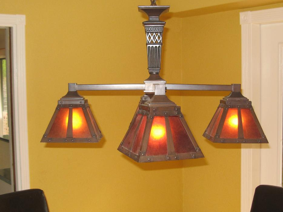 Arts and Crafts 4 Globe Lamp Saanich, Victoria