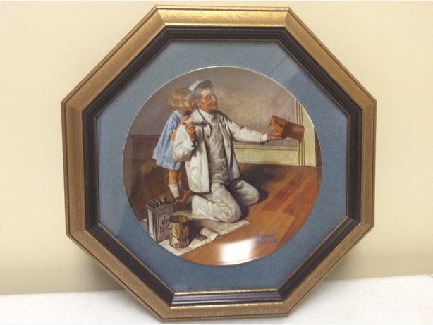 Norman Rockwell plate plus frame
