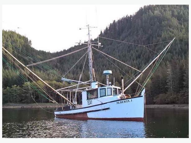 Trolling Fishing Boat - 1952 Classic Troller - Alberta J