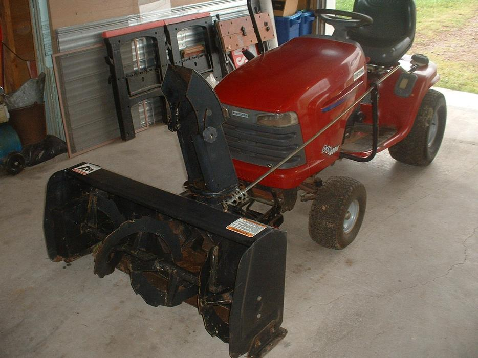 Craftsman Lawn Tractor Snow Blower : For sale great deal craftsman riding mower snow