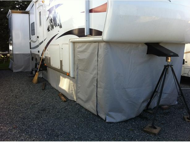 RV Skirts Custom Made For Your RV At YOUR Location Courtenay