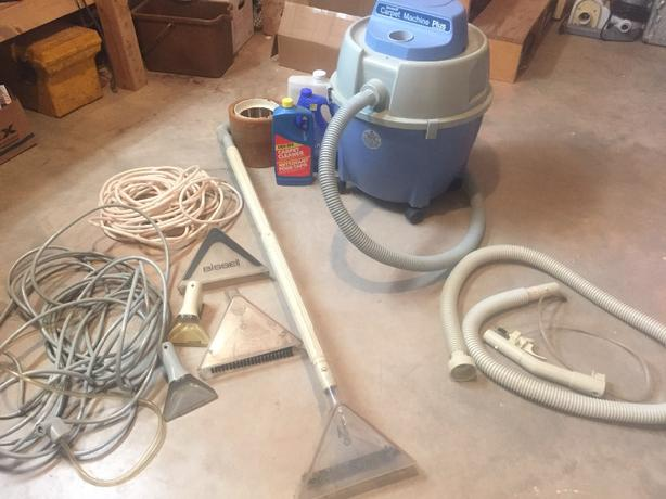 Bissell Carpet cleaning machine.