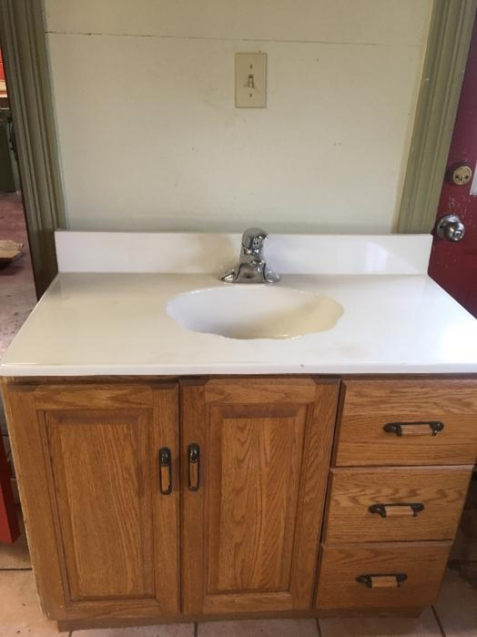 one piece bathroom sink and countertop bathroom vanity includes one sink countertop 25644
