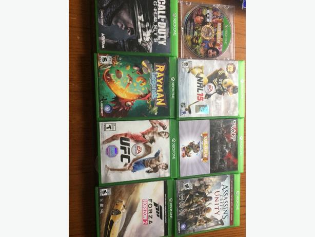 xbox one 1Tb, games, 2 controllers