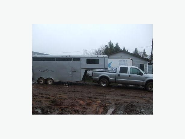 2006 f350 and 2007  maplelawn  trailer