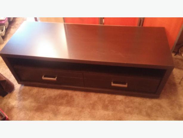 Beautiful Chocolate Brown Colored Coffee Table With 2 Storage Draws Central Nanaimo Nanaimo