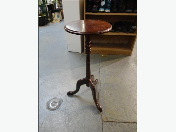 Tall Small Side Table: WIN~#780~ Bombay Co Planter Small Side Table Round 3