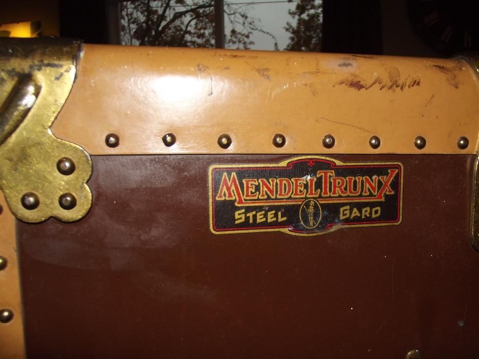 1914 mendel wardrobe steamer trunk 50 price reduced for L furniture warehouse victoria bc