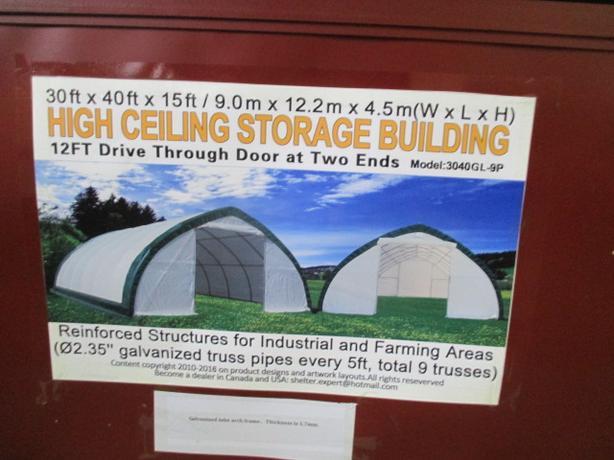 Peak 20x30x12 Shelter Storage : New storage shelter east regina