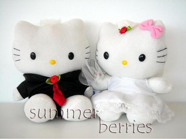 Hello Kitty Bride & Groom Wedding Plush Set (Black&White)