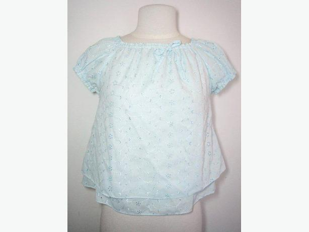 Baby Doll Short Sleeve Top - Baby Blue