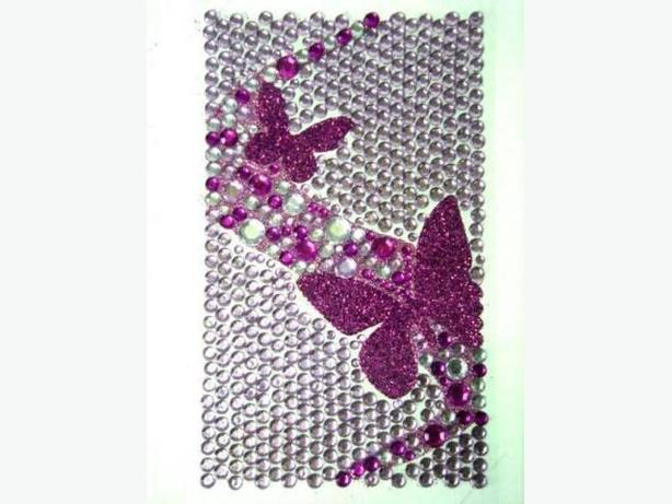 Bling Jewelry Rhinestone Sticker - Purple Butterflies