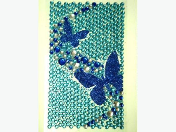 Bling Jewelry Rhinestone Sticker - Blue Butterflies