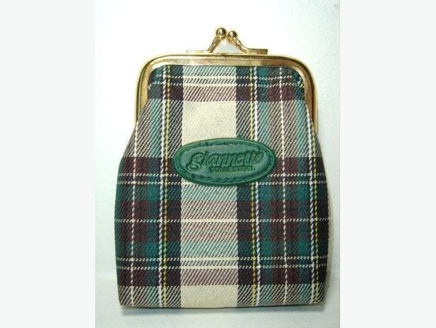 Coin / Change Purse - Green Plaid