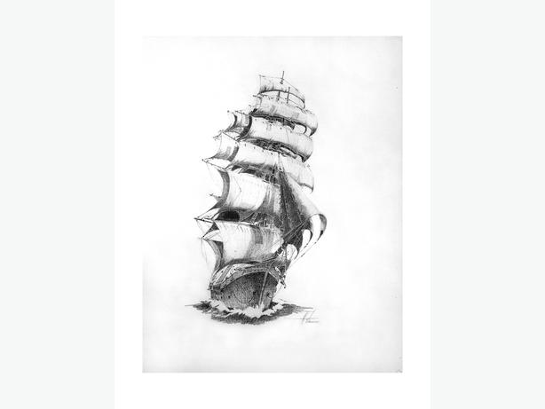 5 Nautical Prints by Local Artist.