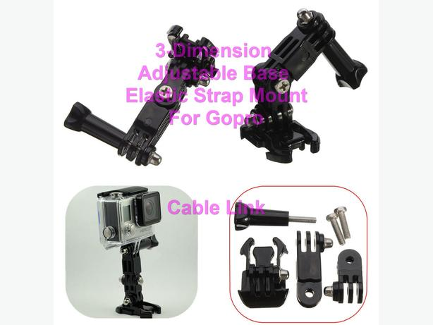 3-Dimension Adjustable Elastic Base Buckle Strap Mount for Gopro