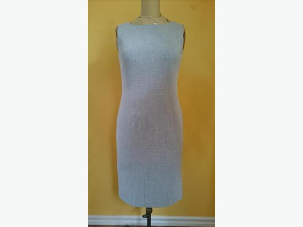 Calvin Klein Grey Sleeveless Sheath Dress Size 6