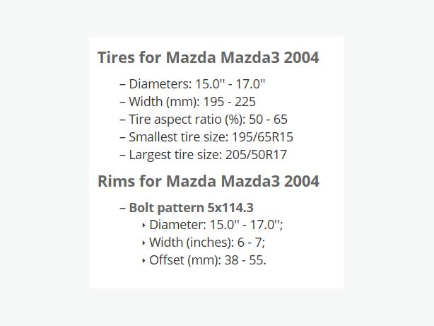 WANTED: Gently Used Winter Tires On Rims (preferably) For 2004 Mazda 3