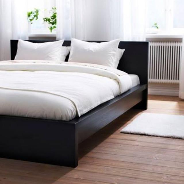 Ikea malm bed with malm floating nightstands saanich victoria - Malm bed with nightstands ...