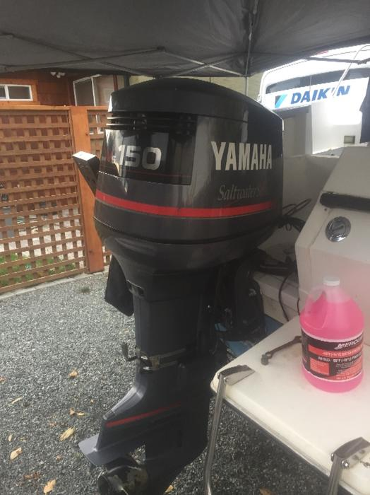 1996 yamaha 150 2 stroke central nanaimo nanaimo mobile for Yamaha 150 2 stroke fuel consumption