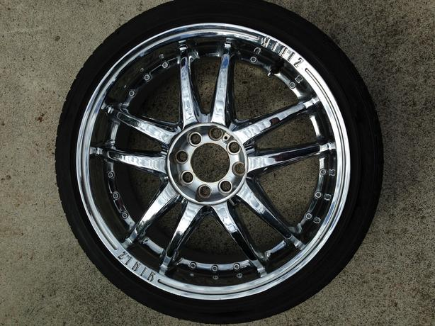 "18"" Zinik Minardi Chrome Rims"