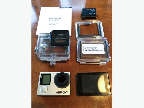 GoPro Hero 4 Black with Touch Screen - Mint Condition