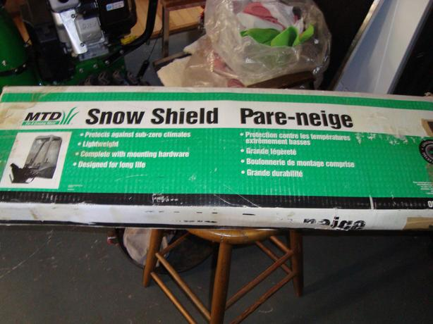 snow blower shield