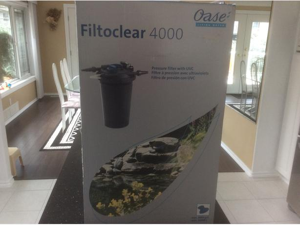 Oase pond filter saanich victoria for Used pond filter for sale
