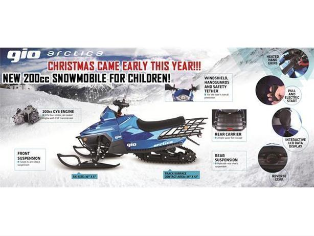 Brand New 2017, Gio ARCTICA 200, Fully Loaded Snow-Mobile On a Super Grand Sale.