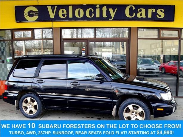 1998 Subaru Forester AWD 79K's Turbo 237hp Low Mileage