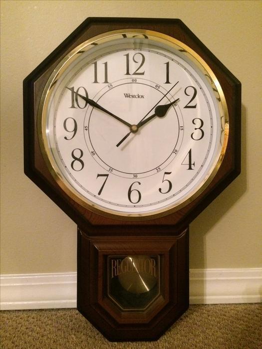 Vintage Westclox Regulator Pendulum Wall Clock Campbell
