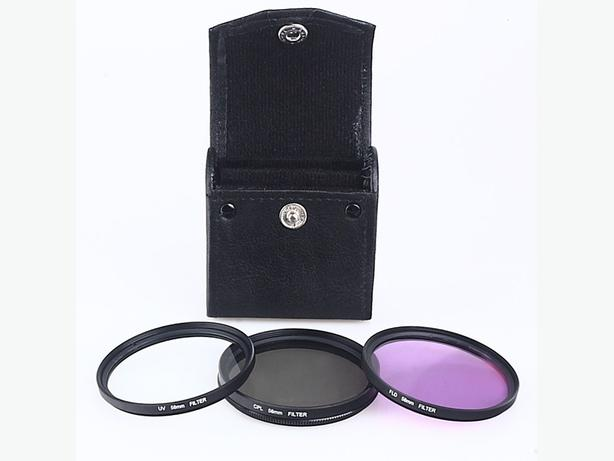 New 3 PCS 58mm CPL UV FLD filter kit for Canon EOS 500D and more