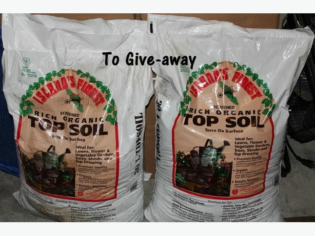 Free 2 bags of organic top soil west shore langford for Organic top soil