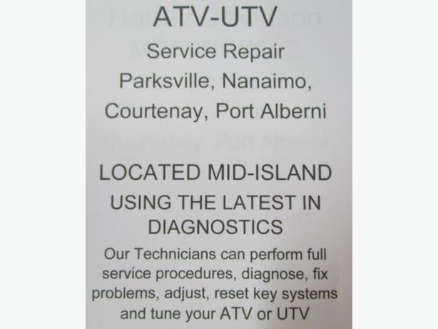 ATV UTV Service repair Parksville, Nanaimo, Courtenay, Port Alberni,