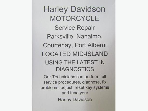 Harley Davidson  Service, Repairs Parksville, Nanaimo, Courtenay, Port Alberni