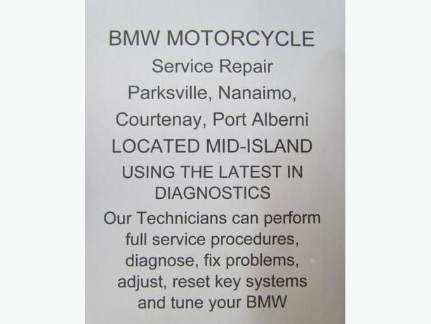 BMW Motorcycles Service, Parksville, Nanaimo, Courtenay, Port Alberni
