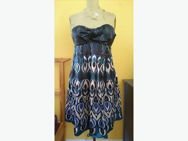 Ted Baker Silk Strapless Dress Size 3