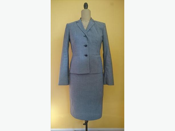 Calvin Klein 2-Piece Grey Skirt Suit Size 4
