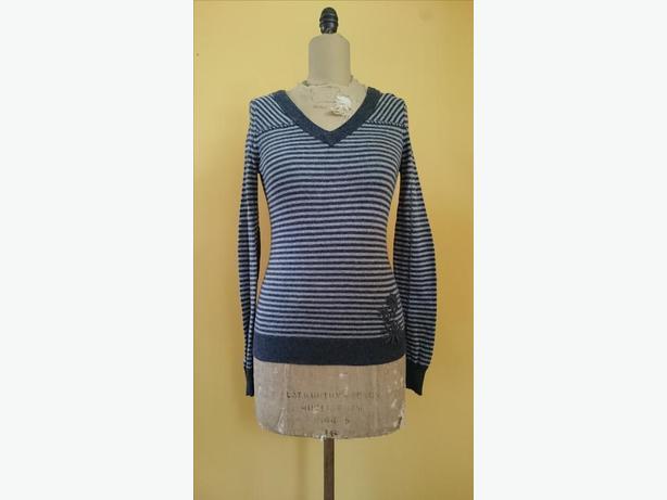 Prana Wool Blend Striped Sweater Size S