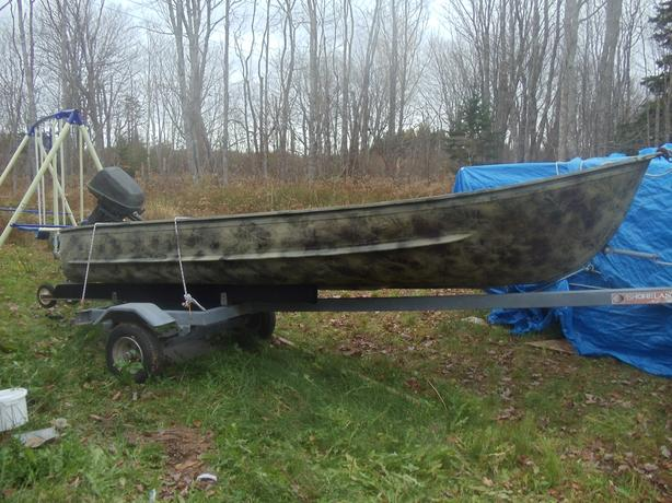 12Ft Camo Aluminum Boat,6Hp Evinrude Motor