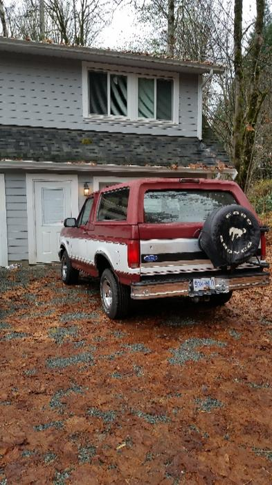 1993 Ford Bronco Xlt Manual 5spd With Removable Top