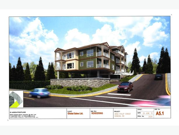 For Sale in Duncan: Development Site for 12 Unit Condo Building