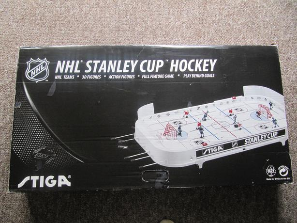 Stiga Stanley Cup Table Top Hockey Game with box.