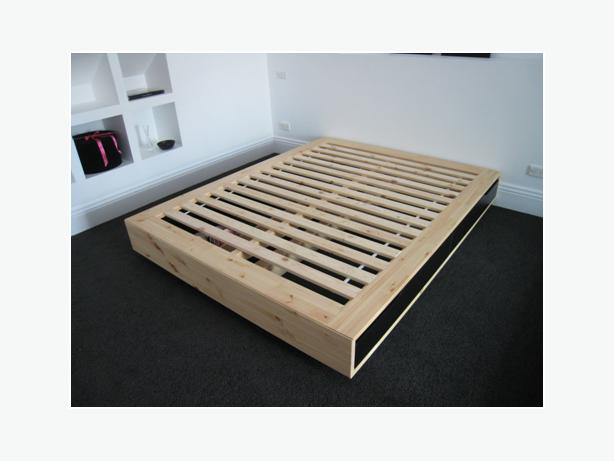 Ikea mandal queen size platform bed west shore langford for Platform bed with drawers ikea