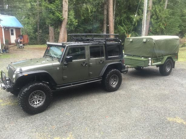 2015 JEEP JK UNLIMITED RUBICON LOADED C/W MILITARY TRAILER