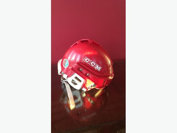 Used CCM hockey helmet