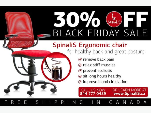 Black Friday SALE of SpinaliS ERGONOMIC Series Chairs