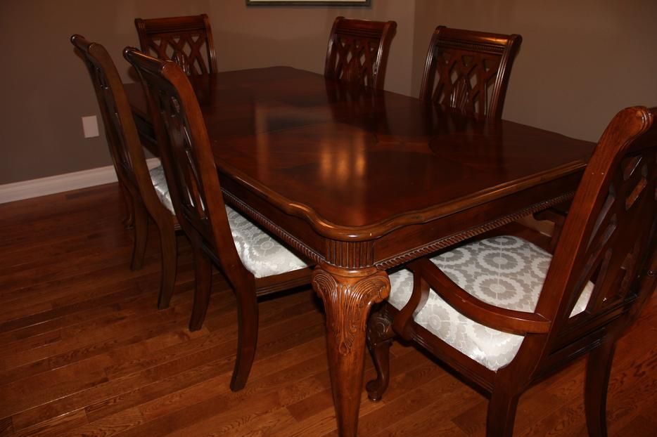 12 piece dining room set table 1 leaf 8 chairs buffet