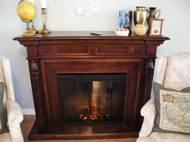 Electric cabinet fire place